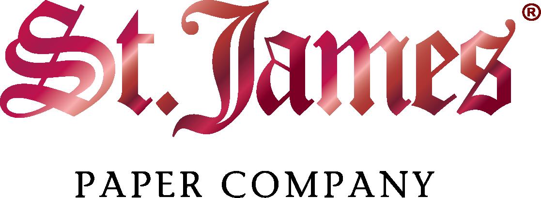 Red foil St James R logo