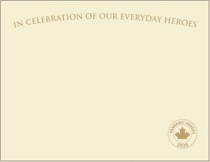 """Pandemic Heroes Collection - Premium Weight """"Everyday Heroes"""" Certificates, Gold Foil, Ivory,"""